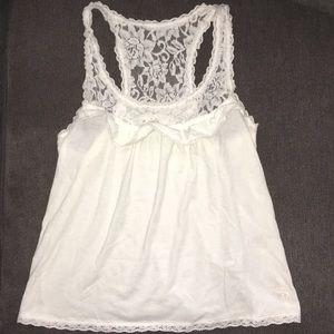 Abercrombie White Lace Tank Size S